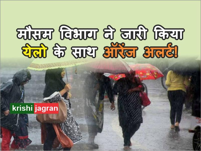 Weather Alert: देश के इन इलाकों में मौसम विभाग ने जारी किया येलो के साथ ऑरेंज अलर्ट!