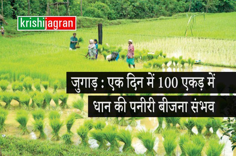 किसान ने तैयार किया ऐसा जुगाड़, इसकी मदद से एक दिन में 100 एकड़ में धान की पनीरी बीजना संभव