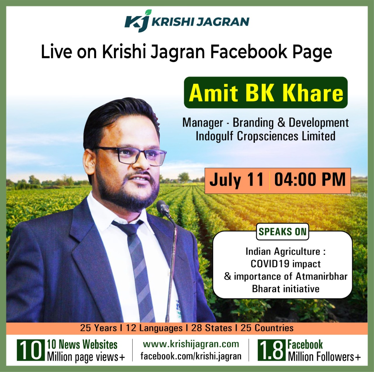 Amit BK Khare, Manager - Branding & Development Indogulf Cropsciences Limited
