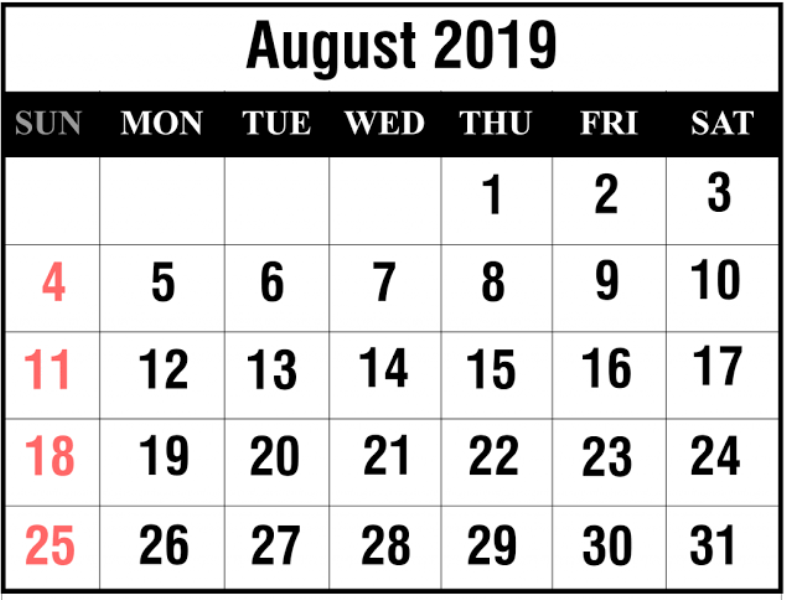 August Month