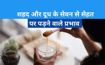 क्या दूध के साथ शहद मिलाकर पीना स्वास्थय के लिए ठीक है, जानिए यहां?