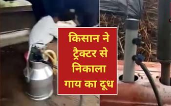ट्रैक्टर से गाय का दूध निकालने का वीडियो हुआ वायरल,  पढ़ें पूरी खबर !