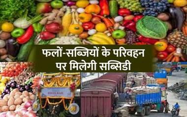 बड़ी खुशखबरी: किसानों को इन 33 फल-सब्जियों के परिवहन पर मिलेगी 50% सब्सिडी, पढ़िए पूरी सूची