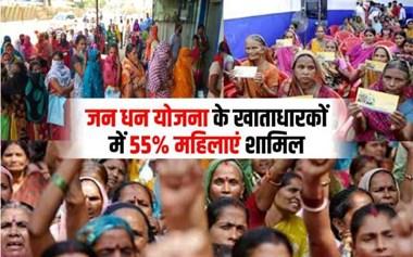 Jan Dhan Scheme:  जन धन योजना में महिलाओं ने मारी बाजी, खाताधारकों में 55% की मिली हिस्सेदारी