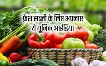 ताजी हरी सब्जी खाने के लिए शहरी लोग अपनाए ये तरीका