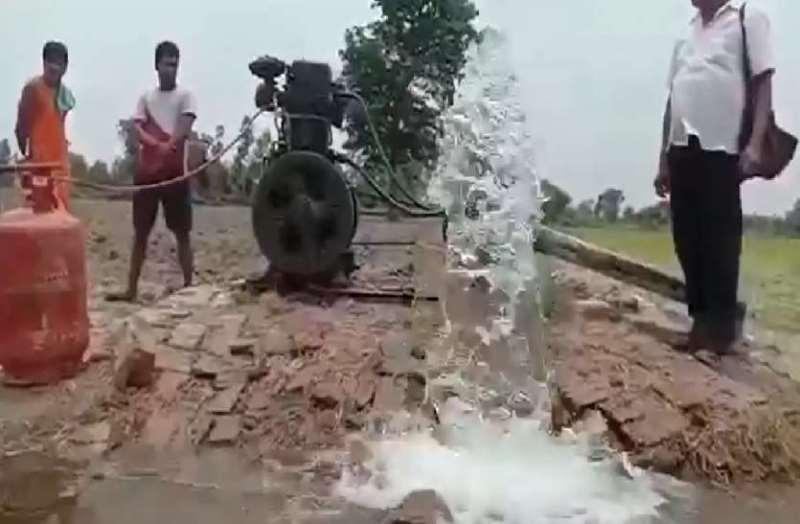 Pumping set run from lpg