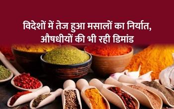 विदेशों में भारतीय मसालों की धूम, 5 सालों में 20 प्रतिशत तक बढ़ा निर्यात