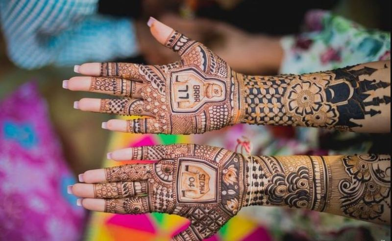 Personalized Mehndi Design