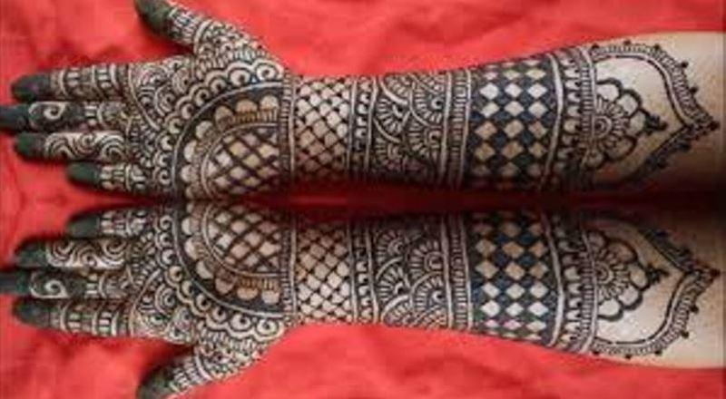 Bharwa Mehndi Design