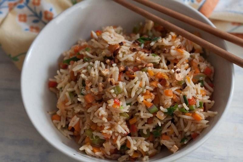 Burnt Garlic Chilli Veg Fried Rice Recipe