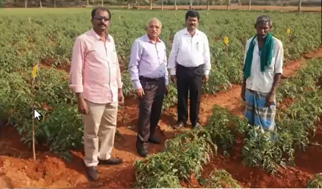Soil Scientists visit the field.