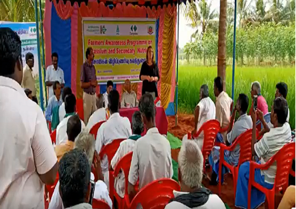 An awareness meetings for the farmers to highlight how Polyhalite can enhance the yield and quality of their produce.